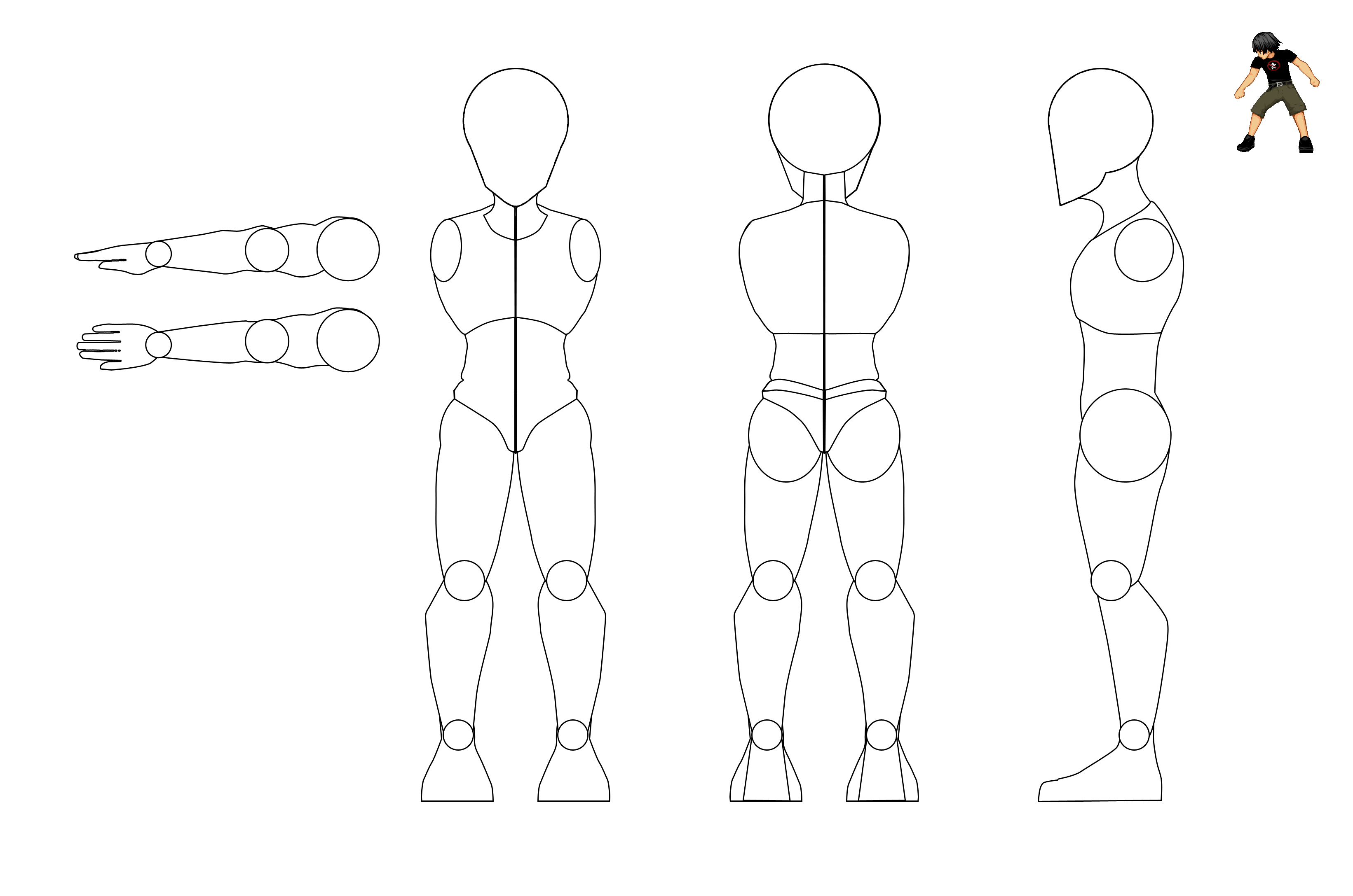 Male Model Sheet  Orthograph Drawings    Male Models